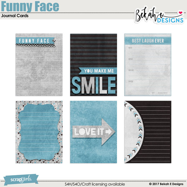 Funny Face - Journal Cards