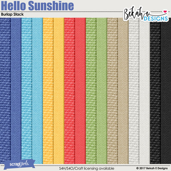 Hello Sunshine - Burlap Stack