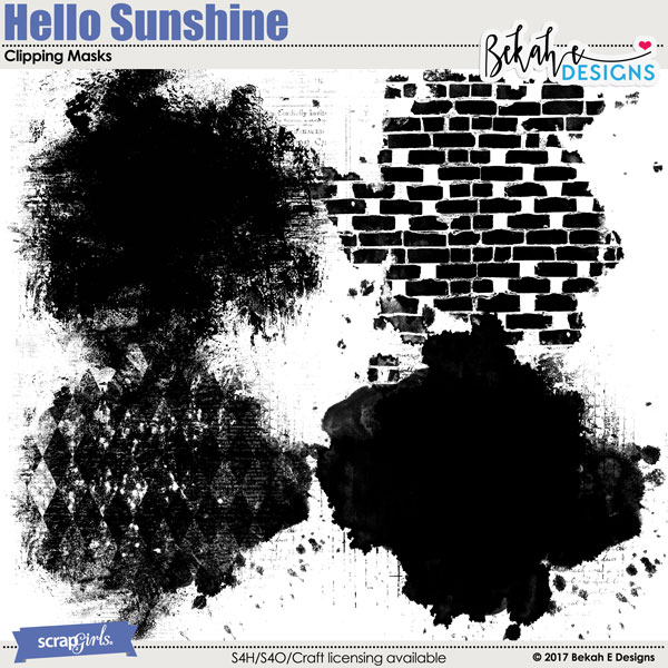 Hello Sunshine - Clipping Masks