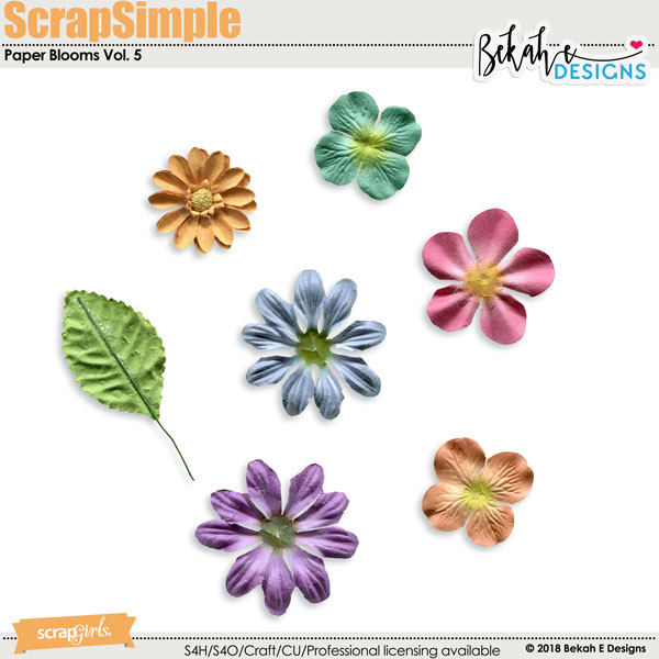 ScrapSimple Embellishment Templates: Paper Blooms Vol. 5