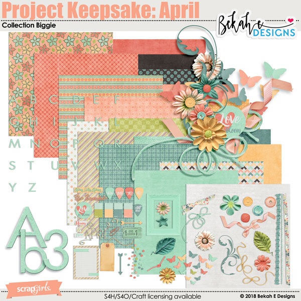 Project Keepsake: April - Collection Biggie by Bekah E Designs