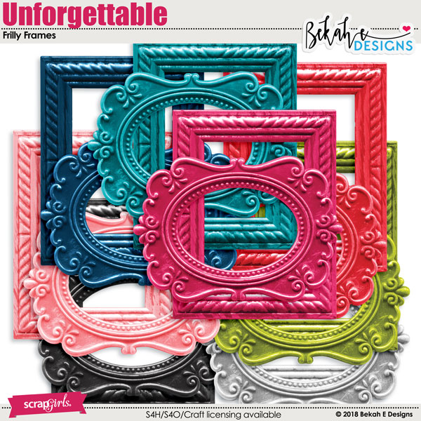 Unforgettable - Frilly Frames