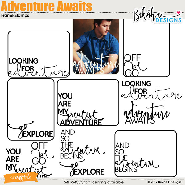Adventure Awaits - Frame Stamps