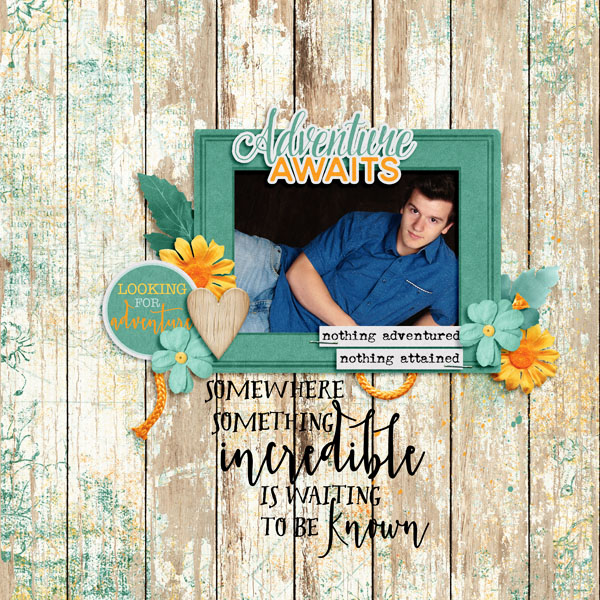 Layout by Bekah using Value Pack: Adventure Awaits