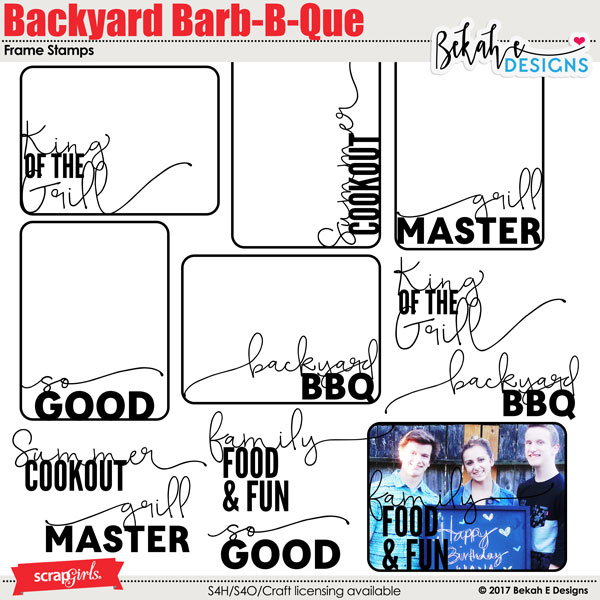 Backyard Barb-B-Que - Frame Stamps
