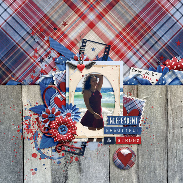 Layout by Bekah using Value Pack: Free To Be Me