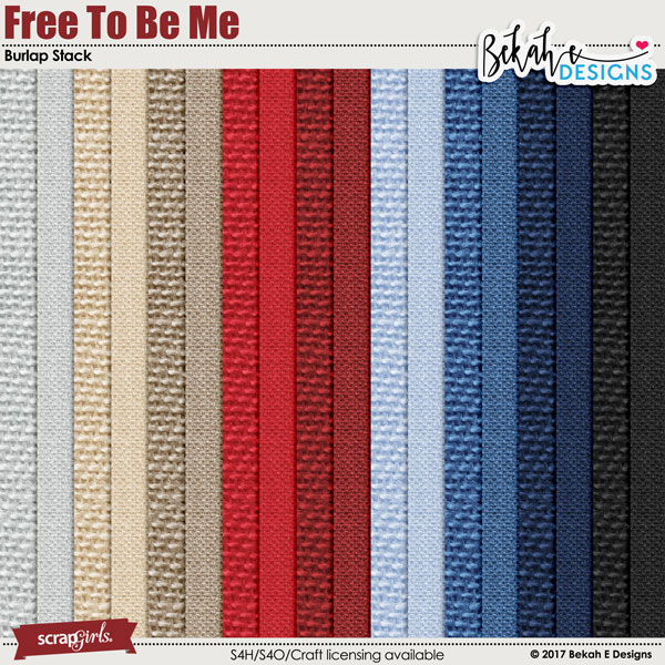 Free To Be Me - Burlap Stack by Bekah E Designs