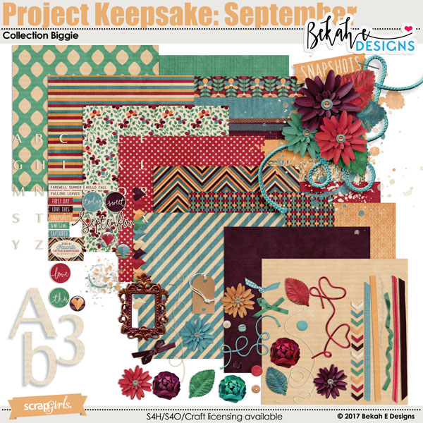 Project Keepsake: September - Collection Biggie by Bekah E Designs