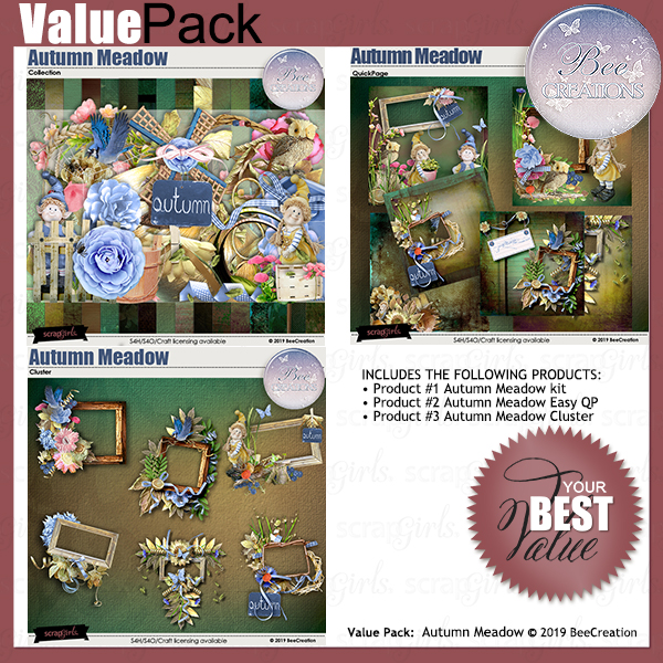 Autumn Meadow Value Pack by BeeCreation