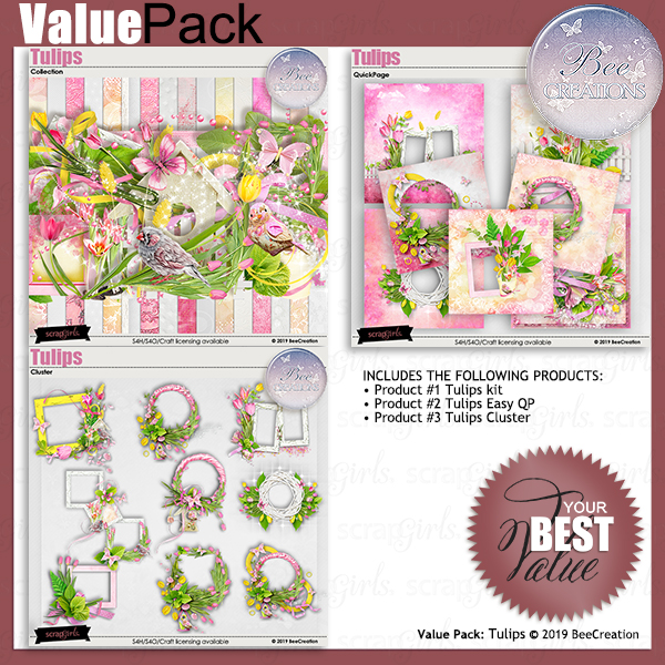 Bee Creation Tulips Value Pack