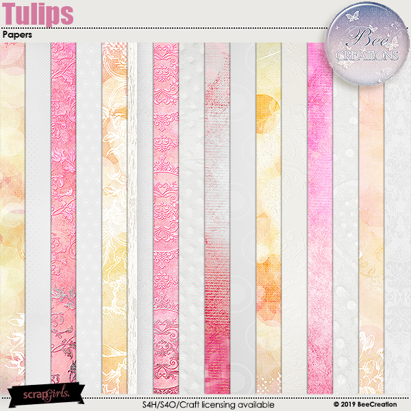Tulips Papers by BeeCreation