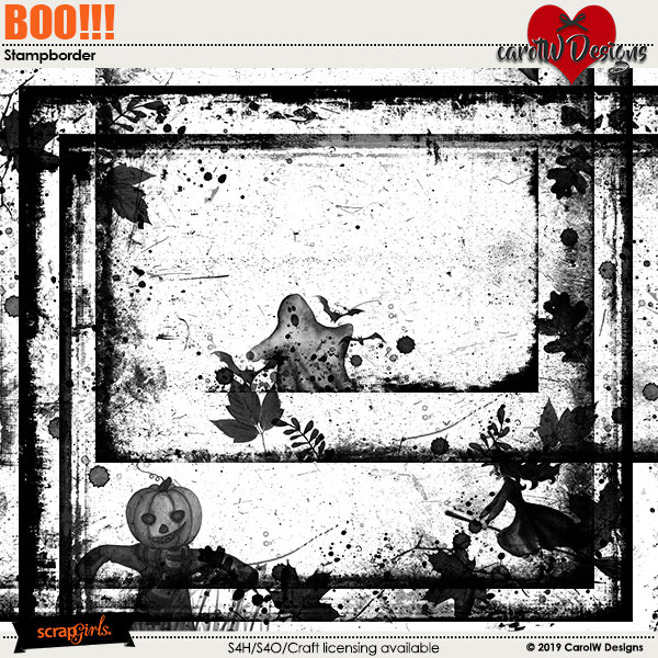 ScrapSimple Digital Layout Collection:Boo!!!