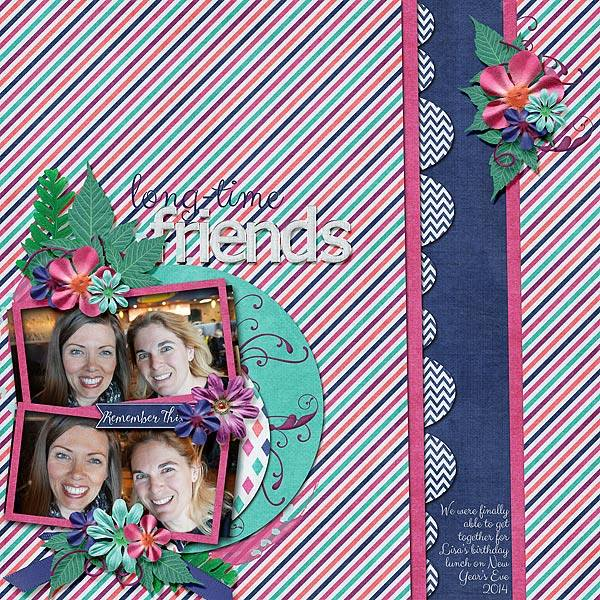 Layout by Bekki using Project Keepsake: January - Burlap Stack