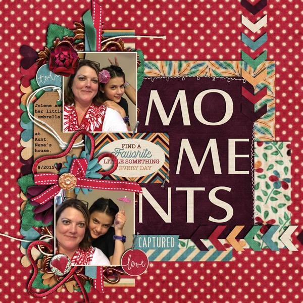 Layout by Joanna using ScrapSimple Embellishment Templates: Tag Along 4
