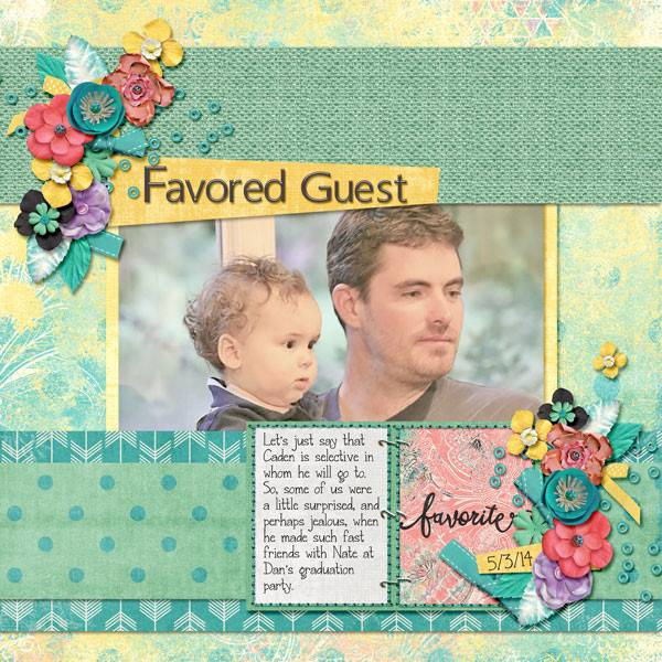 Layout by Kathryn using Project Keepsake: May - Burlap Stack