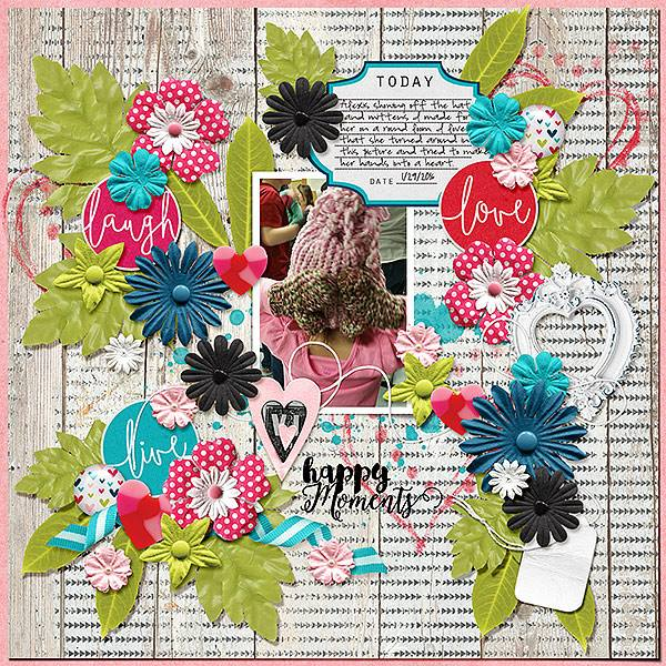 layout by Kim using using Unforgettable - Messy Accents