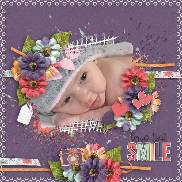 Layout by Olga using Love That Smile - Collection