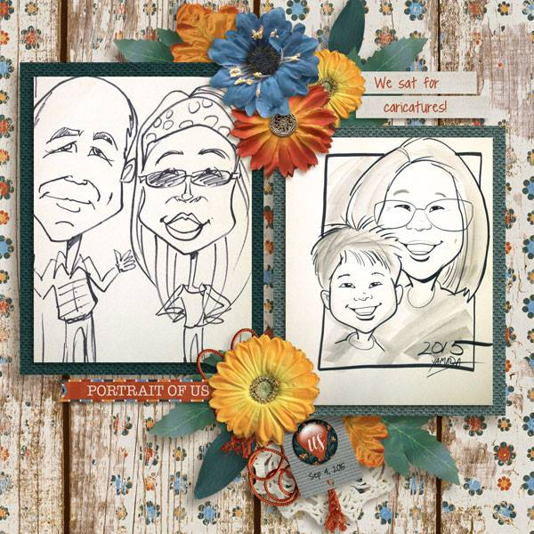 Layout by Penny using Family Portrait - Burlap Stack