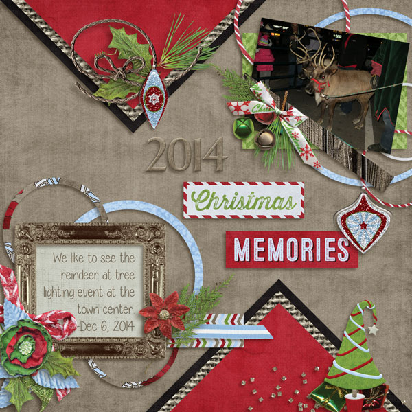 Layout using Wintery Moments: Christmastime - Collection Biggie