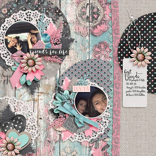 Layout by Joanna using Value Pack: #BestFriends