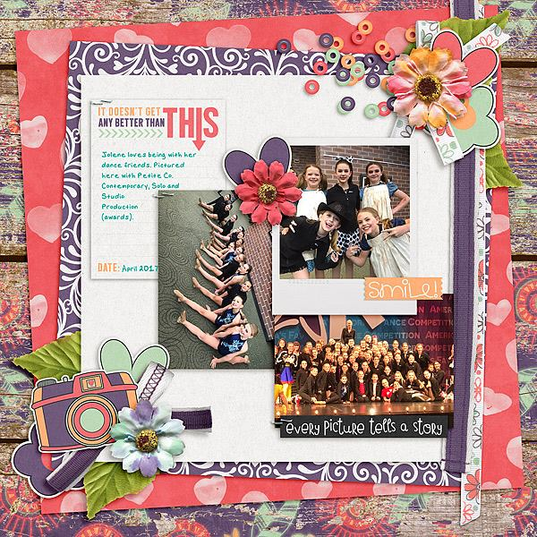 Layout by Joanna Love That Smile - Collection