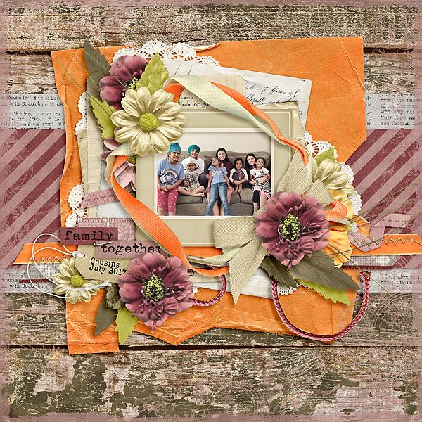 Layout by Joanna using What It's All About - Worn & Torn