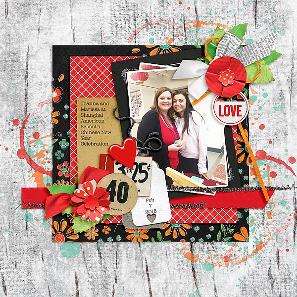 Layout by Joanna using ScrapSimple Embellishment Templates: Antique Paper Bits 01