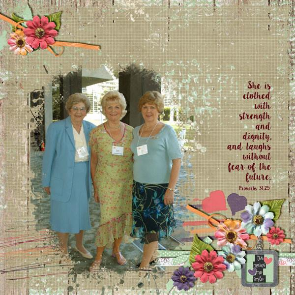 Layout by Kathryn using Love That Smile - Collection
