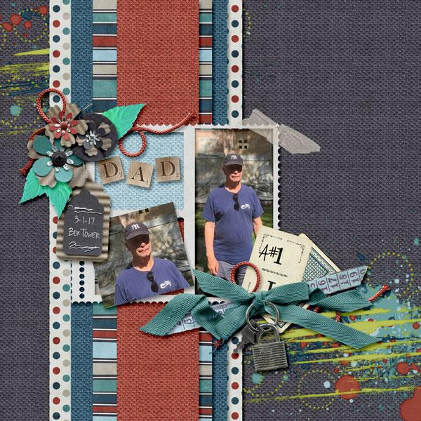 Layout by Kathryn using D Is For Dad - Burlap Stack