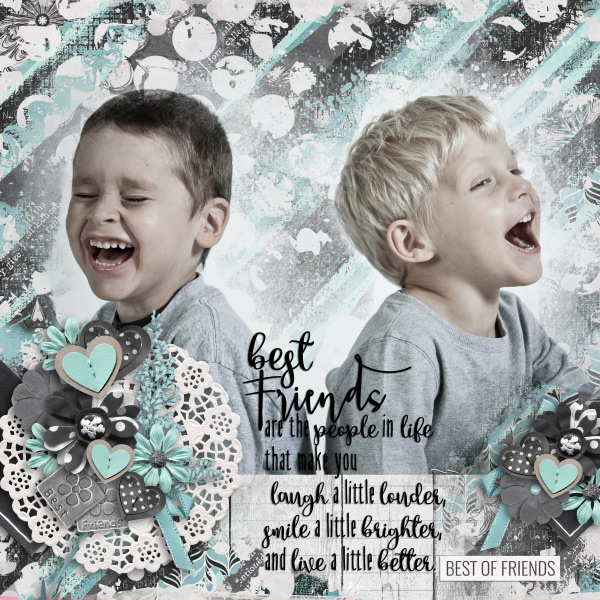 Layout by Olga using #BestFriends - Messy Accents