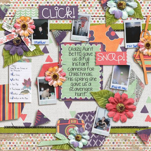 Layout by Penny using Love That Smile - Collection