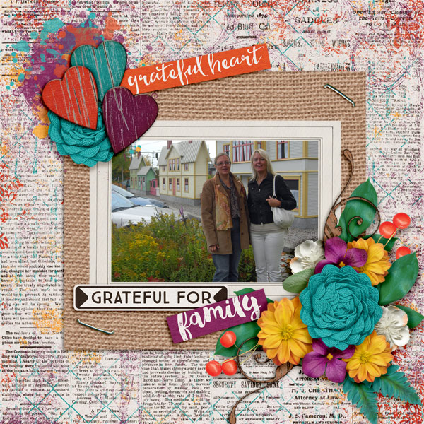 Layout by Pia using So Grateful - Burlap Stack