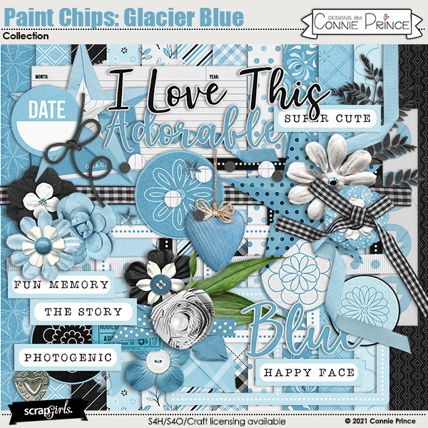 Paint Chips Glacier Blue by Connie Prince