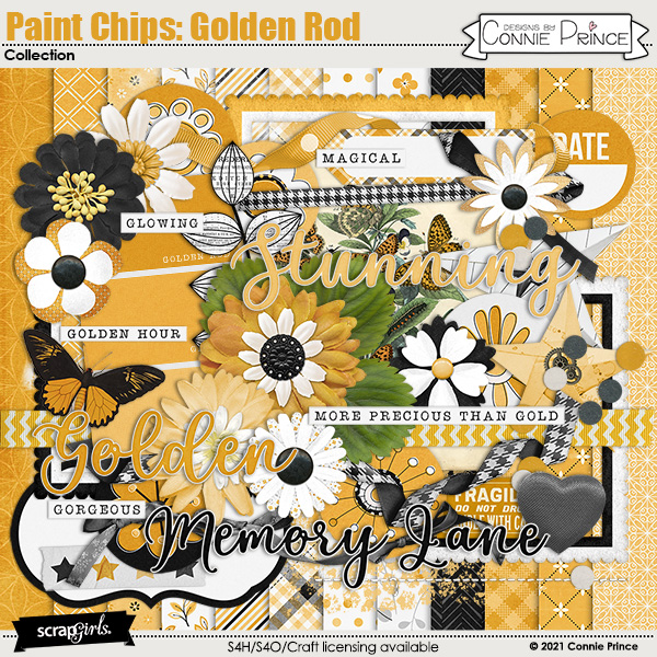Paint Chips: Golden Rod by Connie Prince