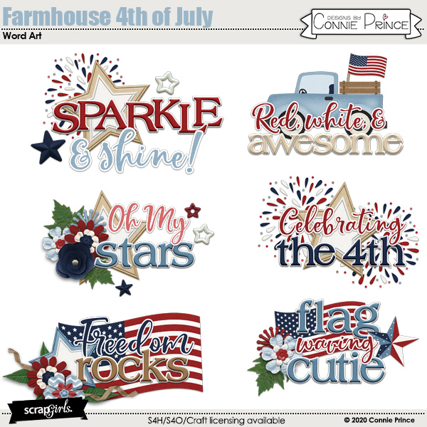 Farmhouse 4th of July by Connie Prince