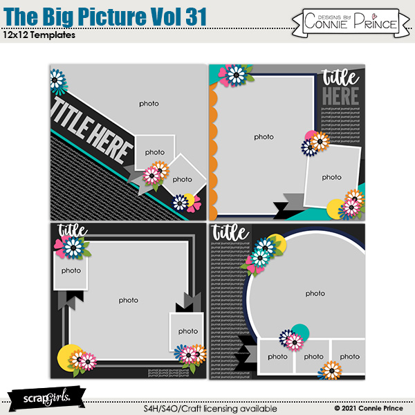 The Big Pictures Volume 31 12x12 Templates by Connie Prince