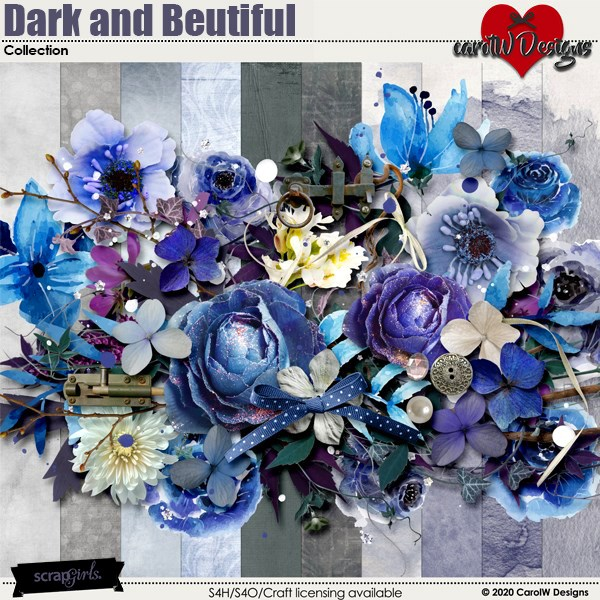 ScrapSimple Digital Layout Collection:dark and beautiful