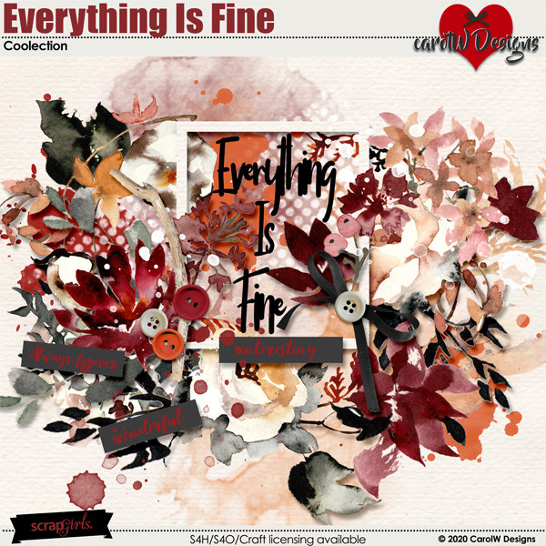 ScrapSimple Digital Layout Collection:Everything Is Fine