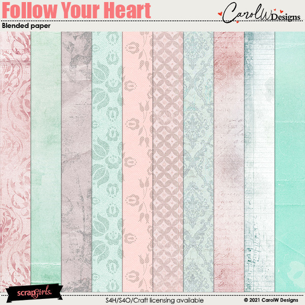 ScrapSimple Digital Layout Collection:blended paper