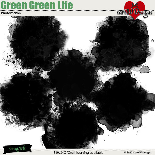 ScrapSimple Digital Layout Collection:Green Green Life