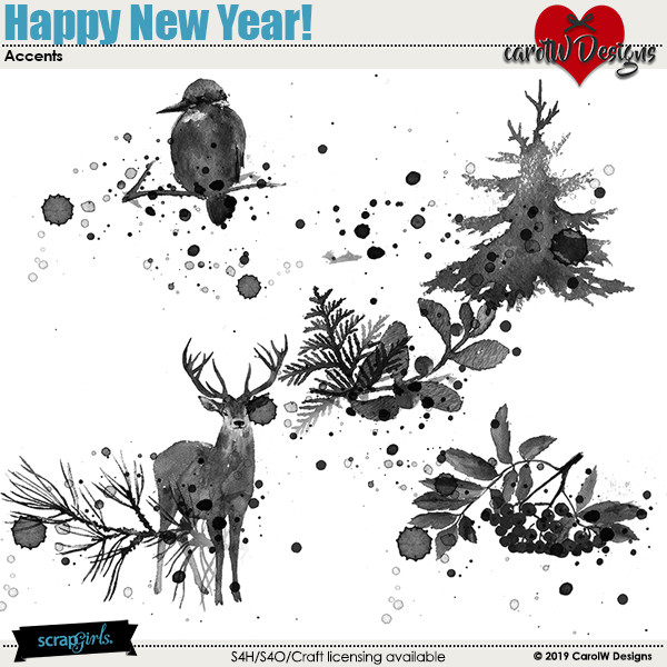 ScrapSimple Digital Layout Collection:Happy New Year!