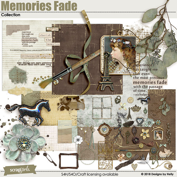 Memories Fade Collection by Designs by Helly