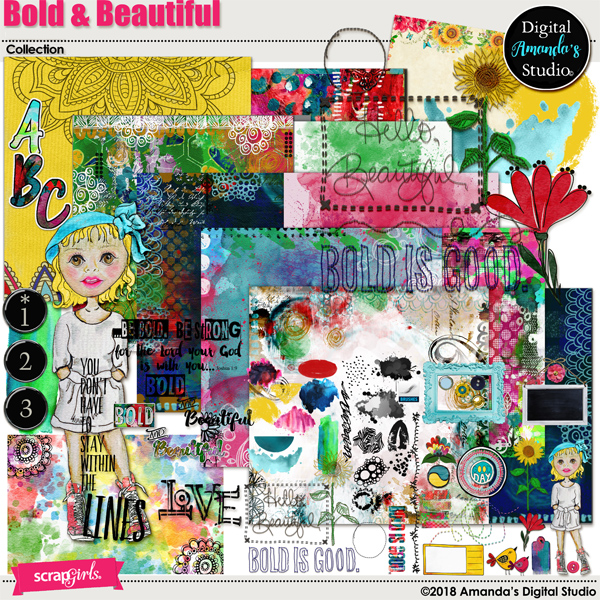 Bold-N-Beautiful Collection Biggie by Amanda's Digital Studio