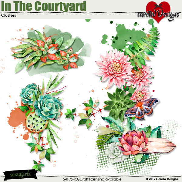 ScrapSimple Digital Layout Collection:In The Courtyard