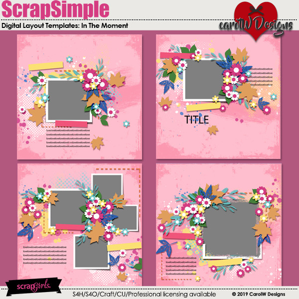 ScrapSimple Digital Layout Templates:In The Moment