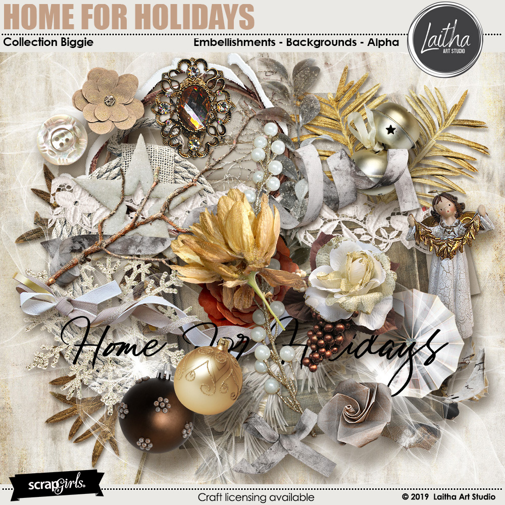 Home For Holidays - Page Kit Essentials
