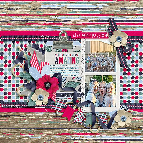 Layout by Joanna using Value Pack: Amazing Life