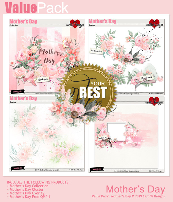 ScrapSimple Digital Layout Collection:Mother's Day