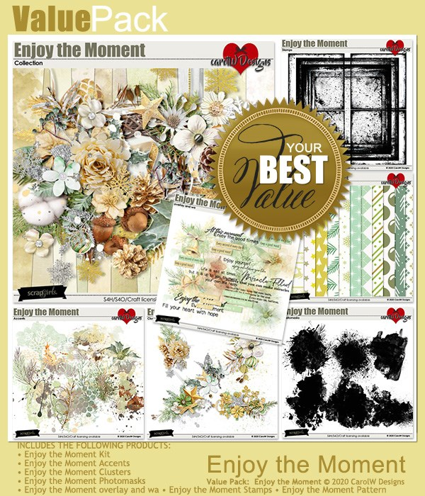ScrapSimple Digital Layout Collection:enjoy the moment