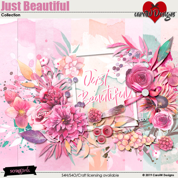 ScrapSimple Digital Layout Collection:Just Beautiful